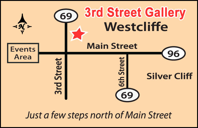 Map to 3rd Street Gallery
