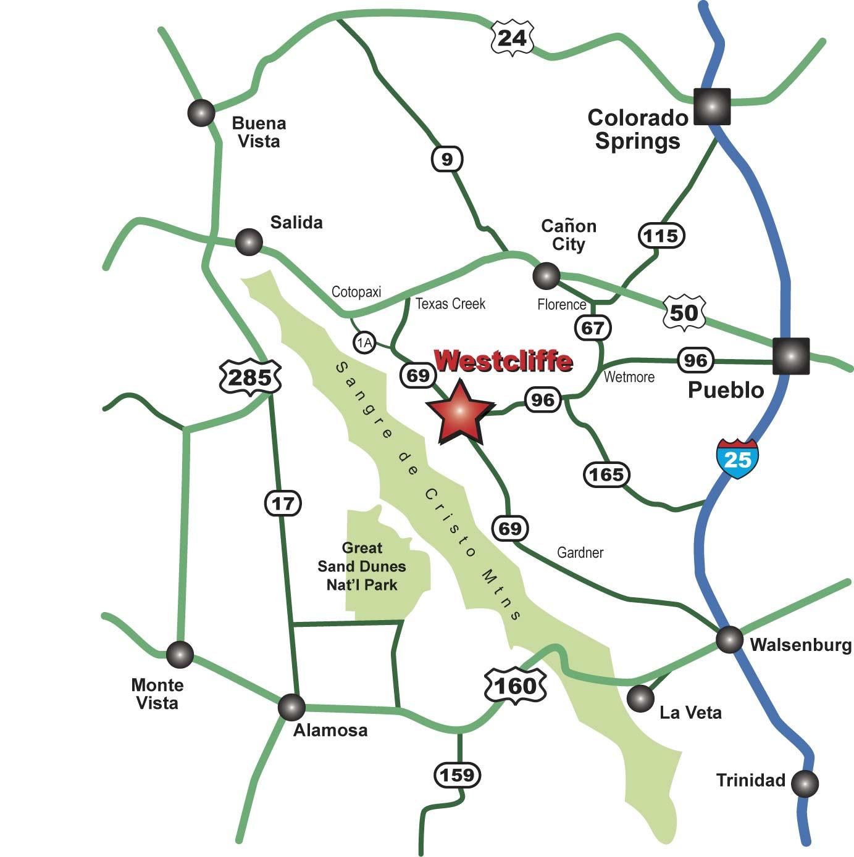 Westcliffe Regional Map