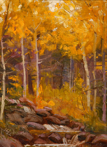 Judsons Art Outfitters Award #2, Susan McCullough, Autumn Brilliance on a Gray Day