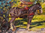 """2nd Place""""Study of an Amish Horse"""" by  Lorie Merfeld-Batson"""