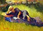 """Best Figurative Award & Painting of the Day""""Literary Lady"""" by Heather Arenas"""