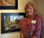 Carol Buschmann with her 1st Place Award winning pastel