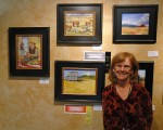 Jeanne with her double-award-winning painting