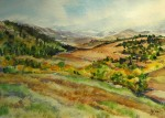 "Watercolor ""Rosita Road, CR328 Westcliffe CO"" by Jean Krueger"