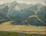 "Grumbacher/Schmincke Award ""Westcliffe Vista"" oil by Gene Van Essen"