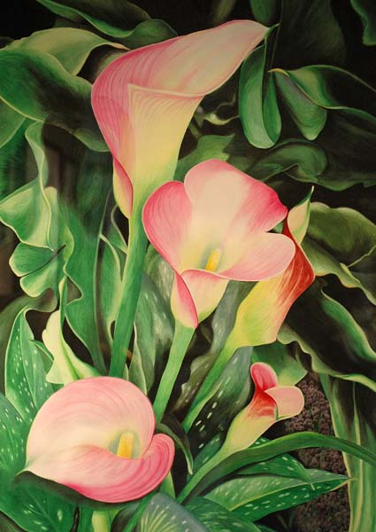 """2nd Place """"Jewels of Summer"""" watercolor by Lois J. Olson"""