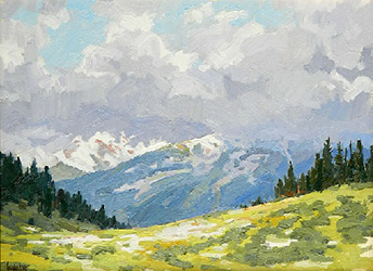 "Leon Loughridge ""Shrine Pass, Late August"""