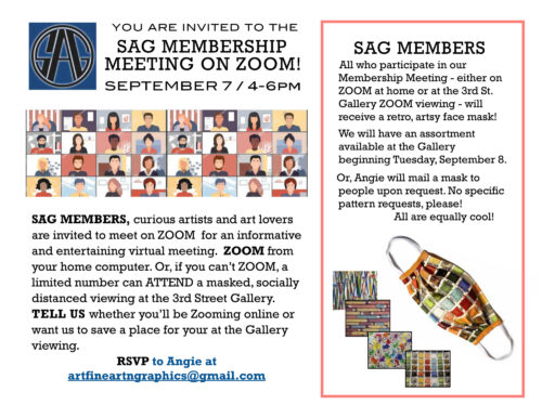 An invitation to the Sangres Art Guild's annual membership meeting.